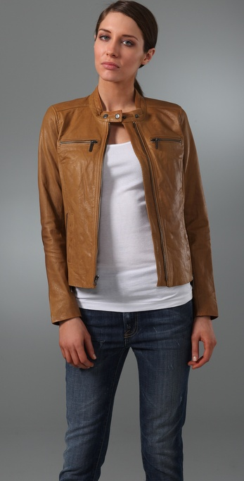 Vince Motocross Leather Jacket