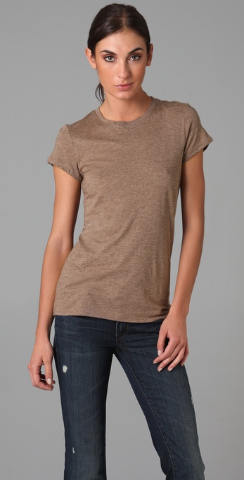 Vince Heathered Short Sleeve Tee