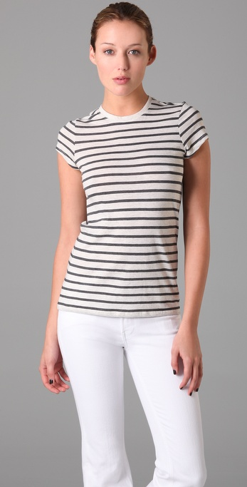 Vince Striped Little Boy Tee