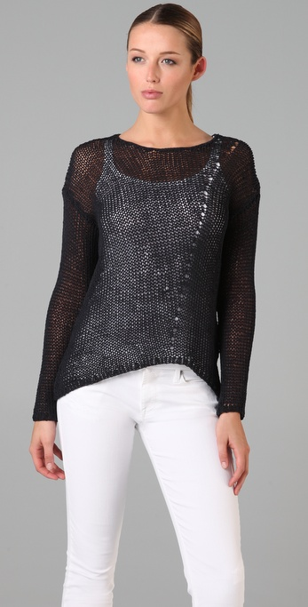 Vince Uneven Hem Sweater