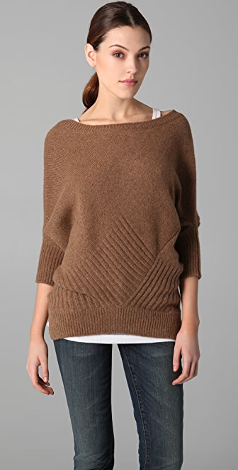 Knitting Pattern For Dolman Sleeve Sweater : Vince Checkerboard Dolman Sleeve Sweater SHOPBOP