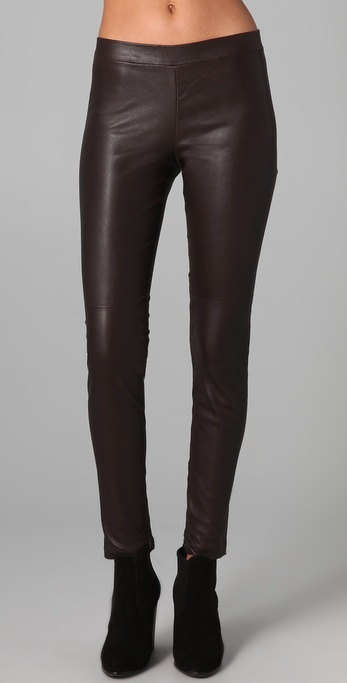 Vince Crop Leather Leggings