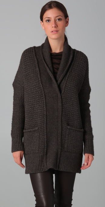 Vince Shawl Collar Cardigan Sweater