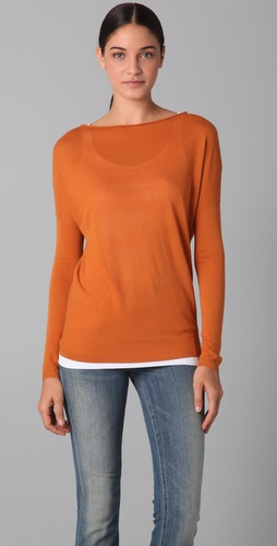 Vince Long Sleeve Boatneck Sweater