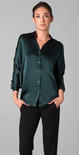 Vince Tuck Long Sleeve Blouse