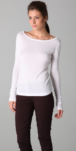 Vince Ribbed Long Sleeve Tee