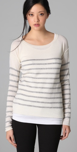Vince Breton Striped Lurex Sweater at Shopbop image
