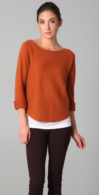 Vince Boat Neck Cropped Sweater