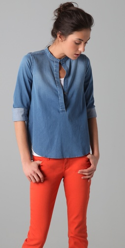 Vince Lightweight Denim Shirt