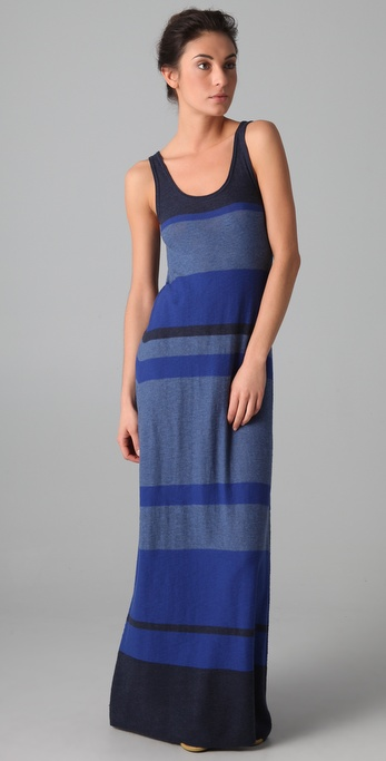 Vince Multi Striped Tank Dress