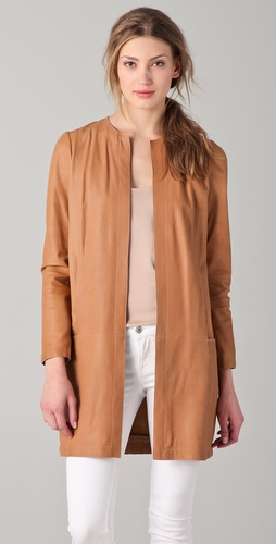 Vince Leather Coat