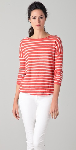 Vince Striped Linen Sweater