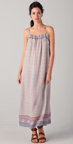 Vince Scarf Print Maxi Dress