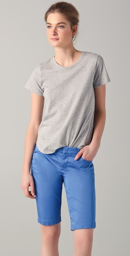 Vince Short Sleeve Shirttail Tee