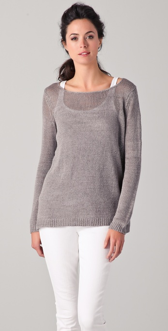 Vince Solid Linen Sweater