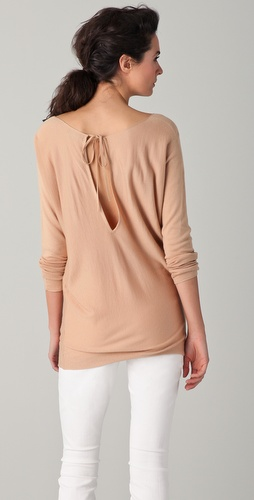 Vince Slit Tie Back Sweater