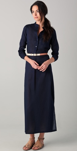 Vince Sheer Maxi Shirtdress