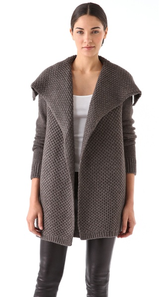Vince Honeycomb Knit Jacket