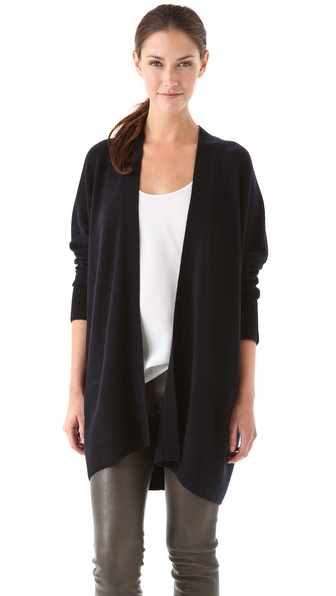 Vince Rib Trim Cardigan