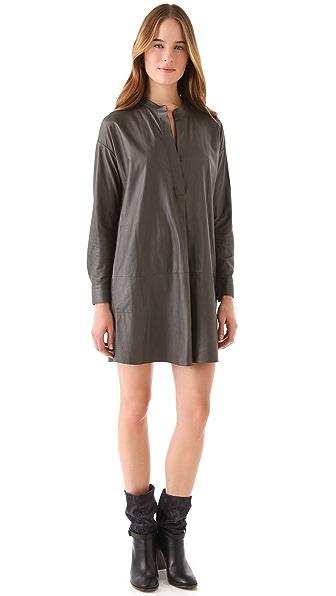 Vince Leather Dress