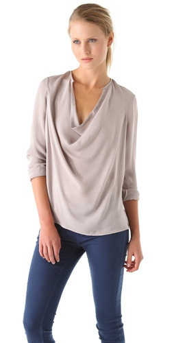 Vince Cowl Blouse at Shopbop.com