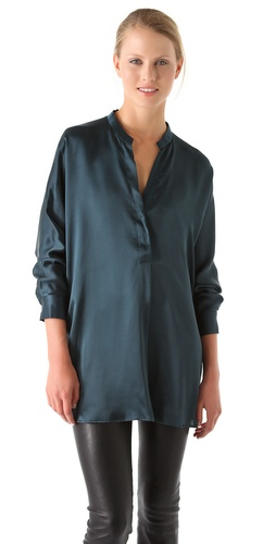 Shop Vince Stand Up Collar Blouse and Vince online - Apparel,Womens,Tops,Blouse, online Store