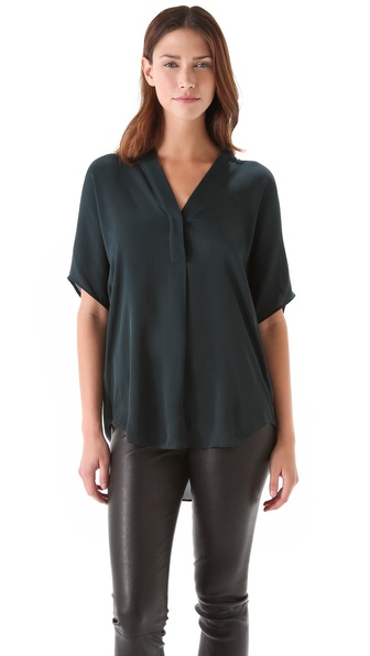 Vince Cap Sleeve Blouse