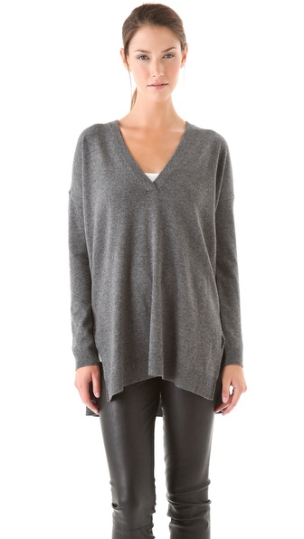 Vince V Neck Tunic Sweater