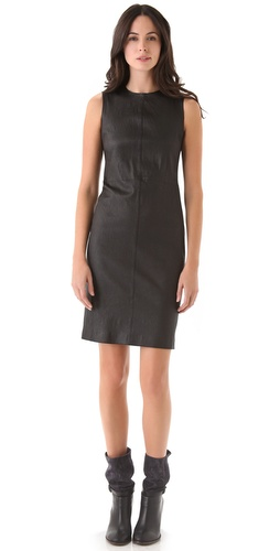 Shop Vince Stretch Leather Dress and Vince online - Apparel, Womens, Dresses, Cocktail, Night_Out,  online Store