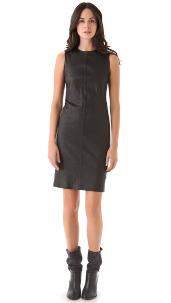 Vince Stretch Leather Dress