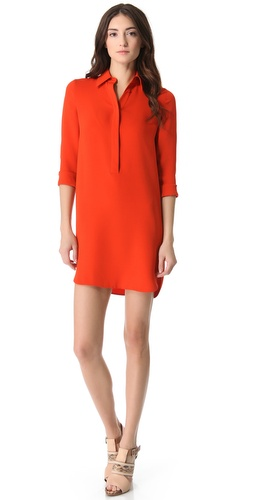 Vince Silk Shirtdress at Shopbop image