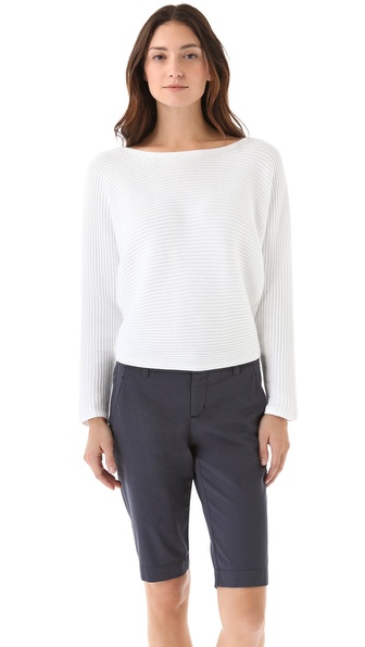 Vince Horizontal Rib Dolman Sweater