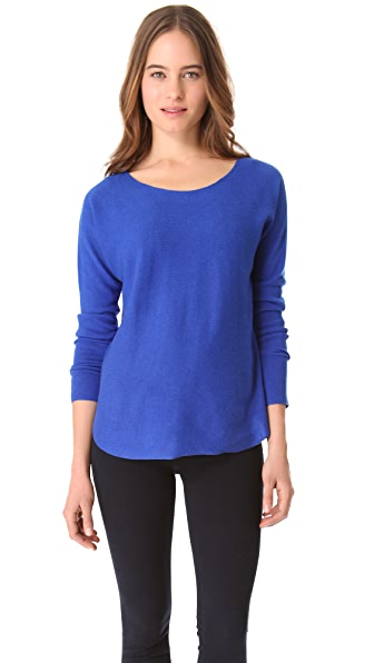 Vince Cashmere Shirttail Sweater