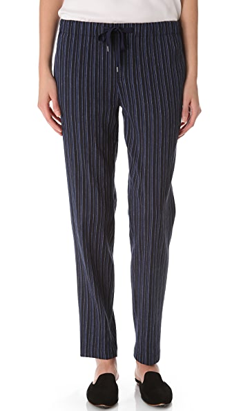Vince Striped Drawstring Pants