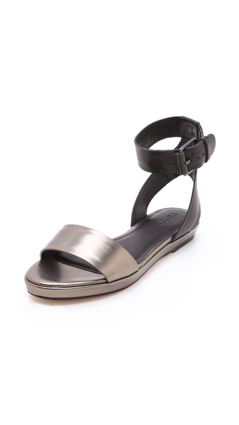 Vince Abbey Metallic Flat Sandals