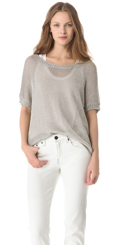Shop Vince Metallic Sweater and Vince online - Apparel,Womens,Sweaters,Pull_Over, online Store