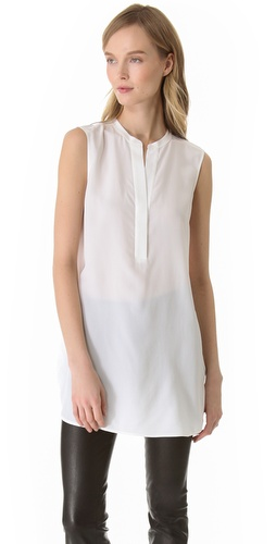Shop Vince Sheer Back Tunic and Vince online - Apparel,Womens,Tops,Blouse, online Store