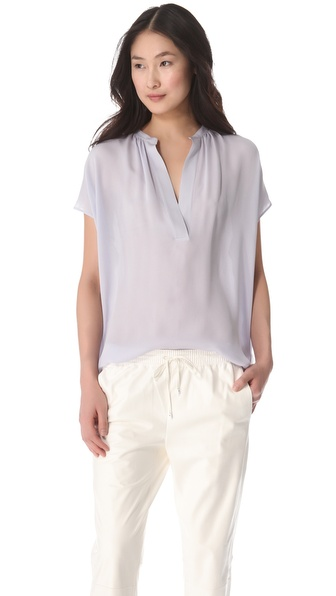 Vince Cap Sleeve Popover Blouse