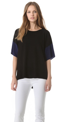 Shop Vince Colorblock Cashmere Sweater and Vince online - Apparel,Womens,Sweaters,Pull_Over, online Store