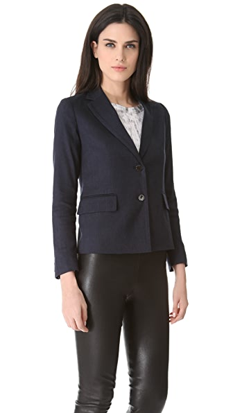 Vince Linen 2 Button Blazer