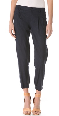 Vince Pleated Linen Pants