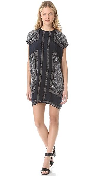 Vince Border Print Tunic Dress
