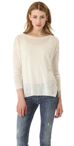 Vince Linen Crew Sweater