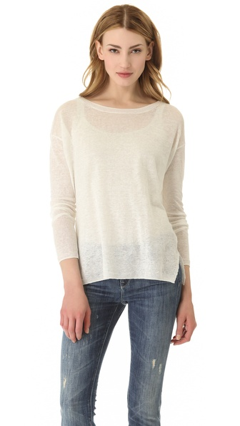 Vince Linen Crew Sweater