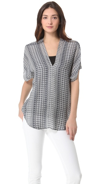 Vince Double V Blouse