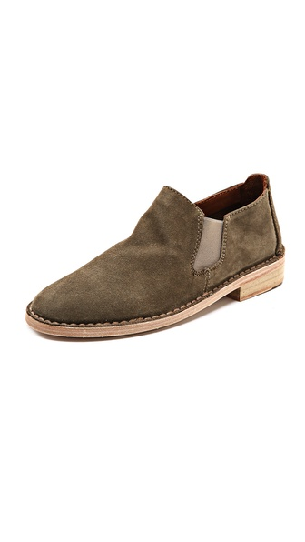 Vince Mia Suede Flat Booties - Flint at Shopbop / East Dane