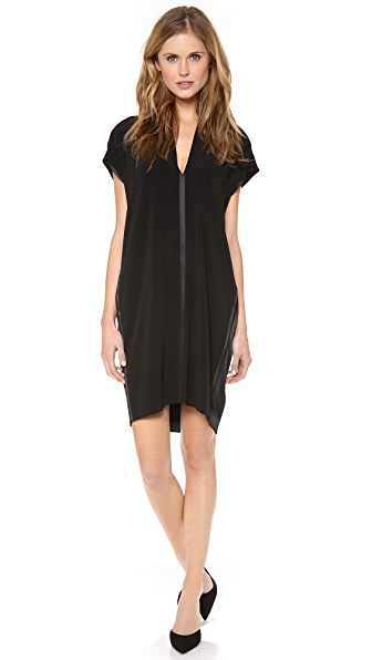 Vince Split Neck Dress