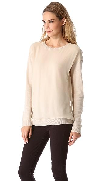 Vince Chiffon Overlay Sweater