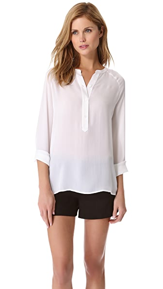 Vince Raglan Half Placket Top