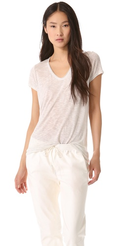 Vince Rolled V Neck Tee at Shopbop / East Dane